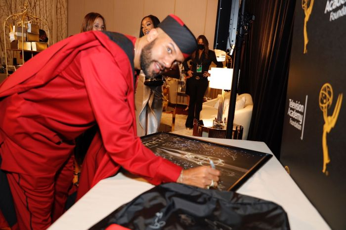 Celebrities at Emmy Awards Backstage Gifting Suite
